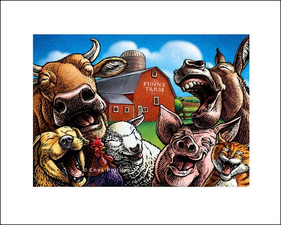 cartoon funny farm